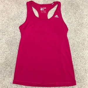 adidas Tech Fit Fitted Racerback Tank Top Sz L